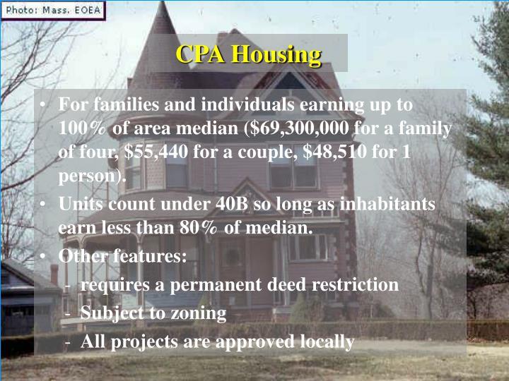 CPA Housing