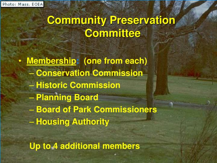 Community Preservation