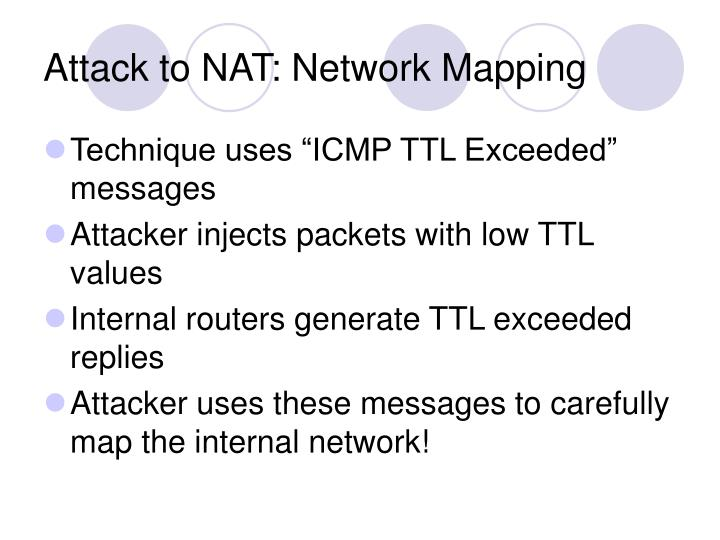 Attack to NAT: Network Mapping