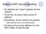 attack to nat source spoofing