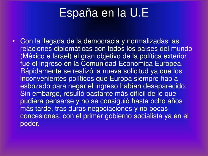 España en la U.E