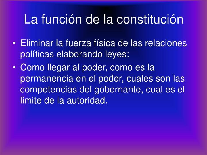 La función de la constitución