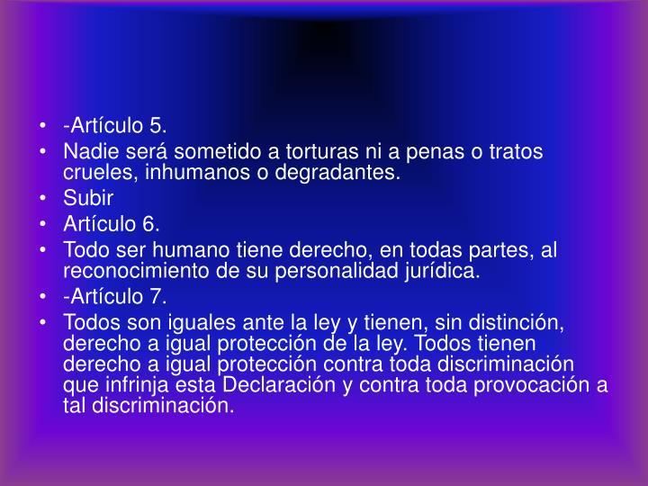 -Artículo 5.