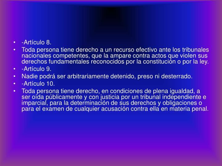 -Artículo 8.