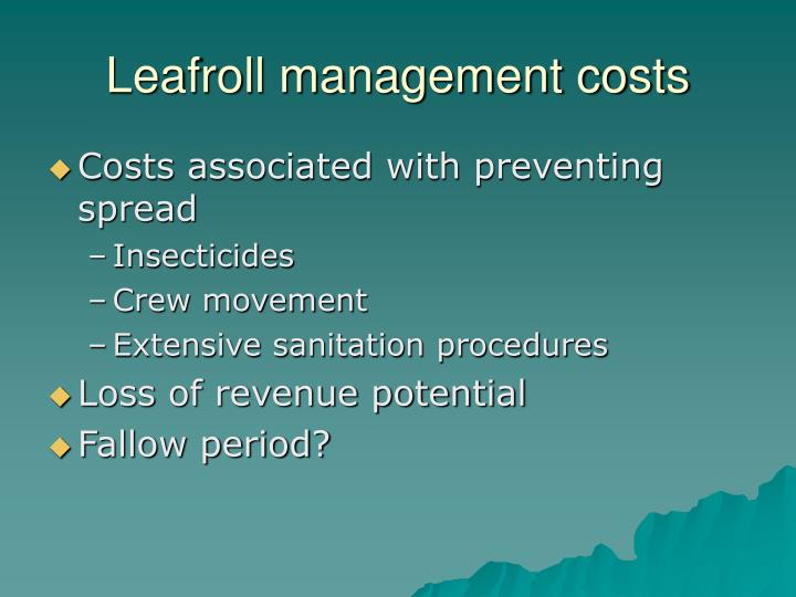 Leafroll management costs