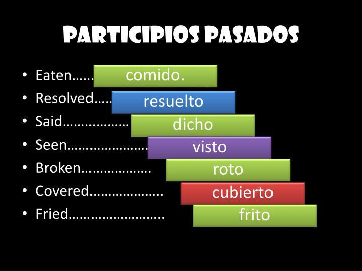 PARTICIPIOS PASADOS