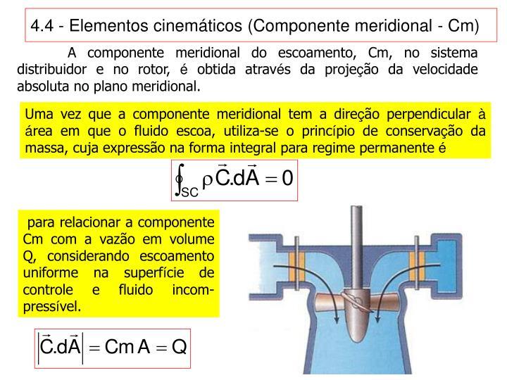 4.4 - Elementos cinemáticos (Componente meridional - Cm)