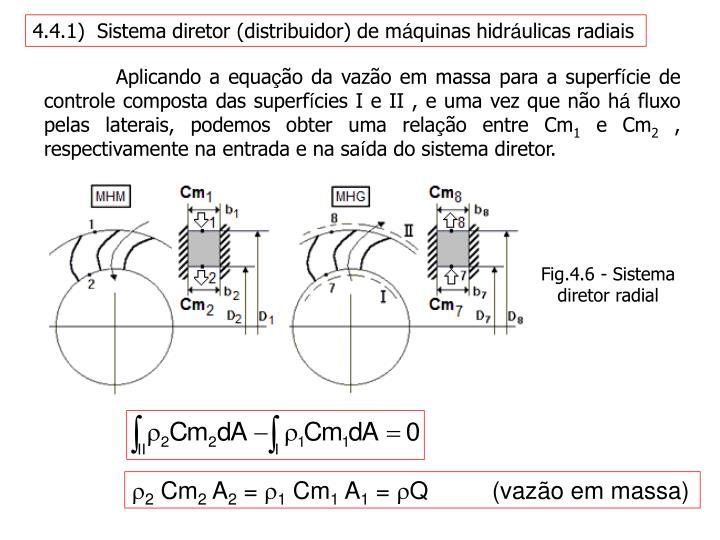 4.4.1)  Sistema diretor (distribuidor) de m