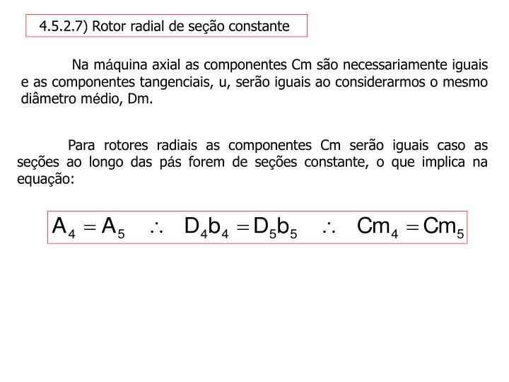 4.5.2.7) Rotor radial de se