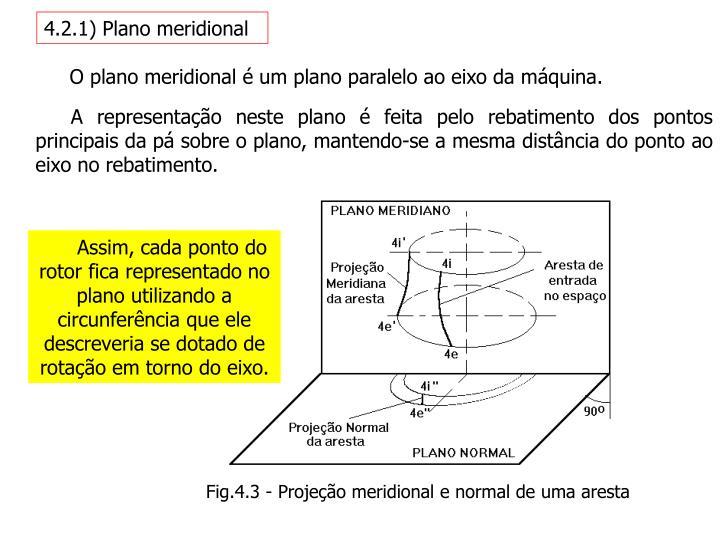 4.2.1) Plano meridional