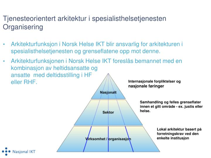 Tjenesteorientert arkitektur i spesialisthelsetjenesten