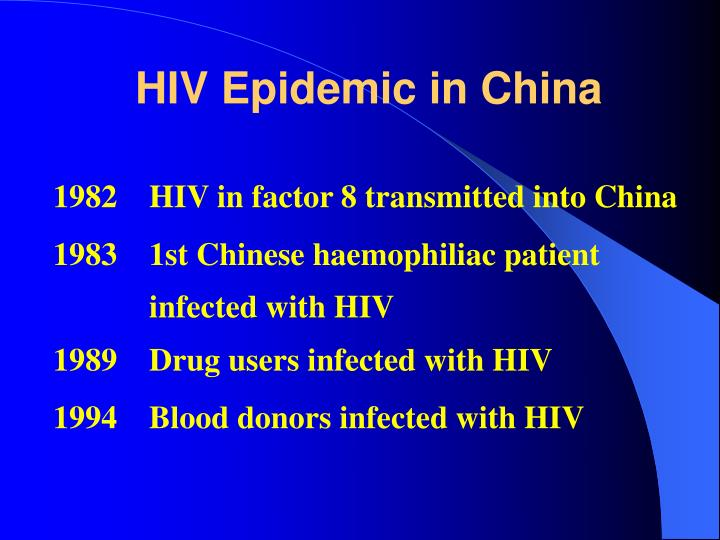 HIV Epidemic in China
