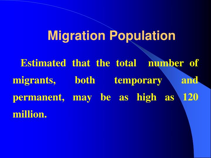 Migration Population