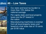8 low taxes
