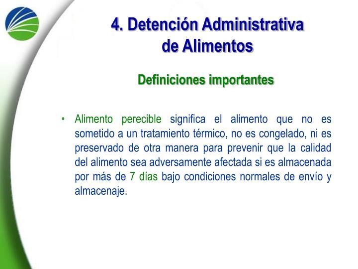 4. Detención Administrativa