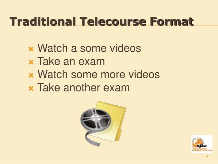 Traditional Telecourse Format