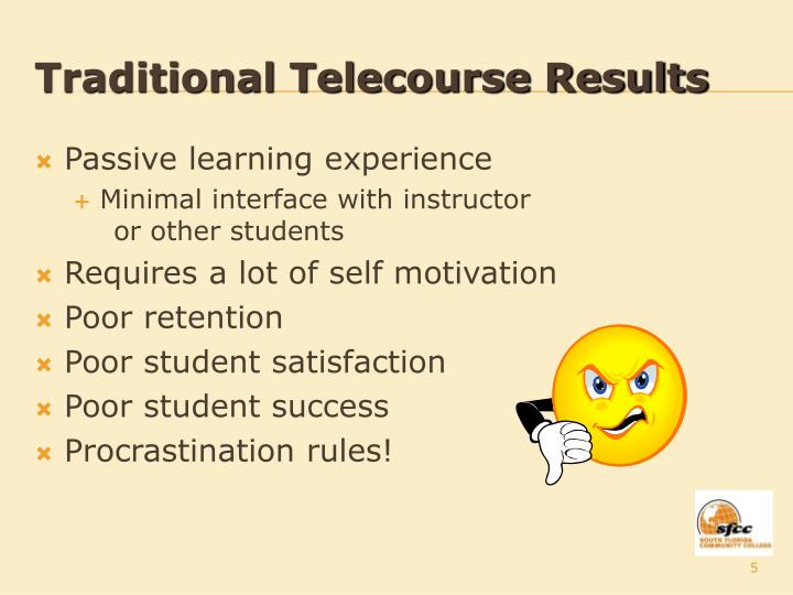 Traditional Telecourse Results