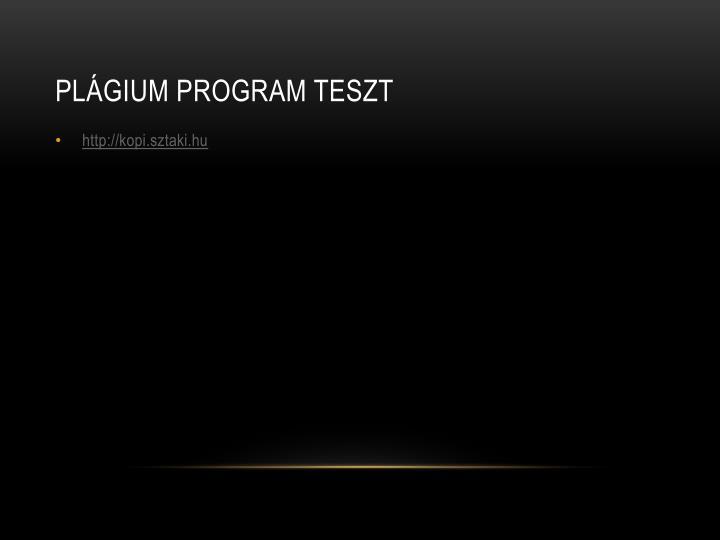 Plágium program teszt