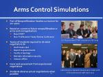 arms control simulations