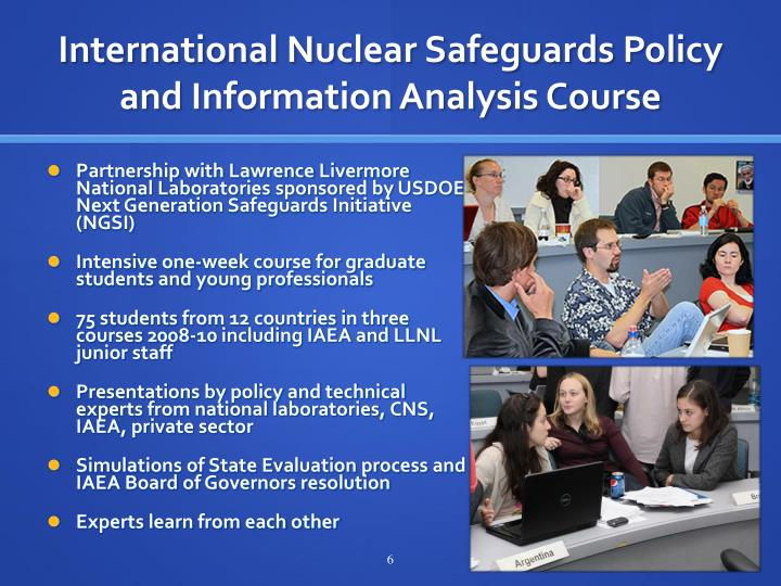 International Nuclear Safeguards