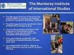 the monterey institute of international studies