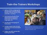 train the trainers workshops