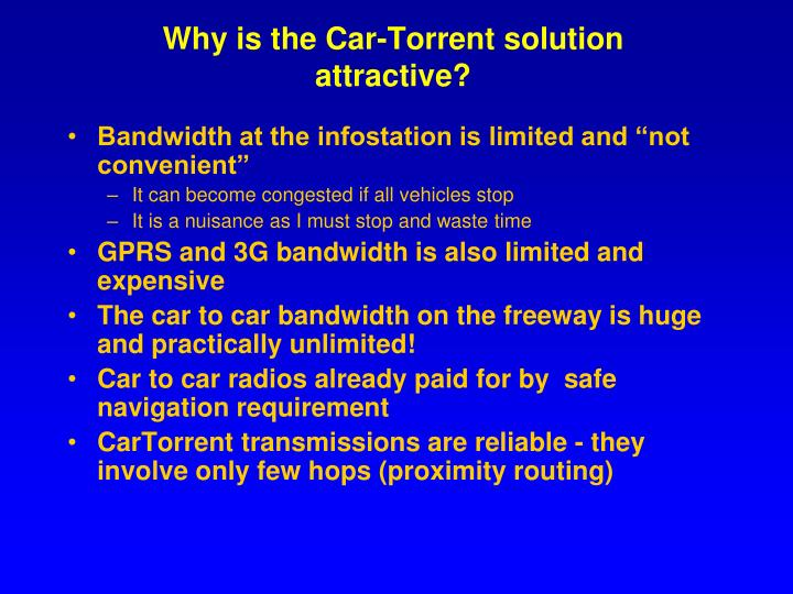 Why is the Car-Torrent solution attractive?