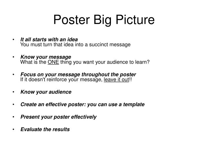 Poster Big Picture