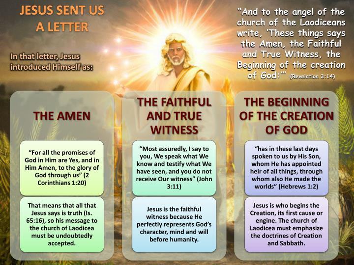 JESUS SENT US