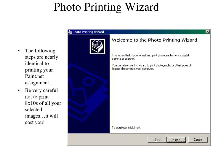 Photo Printing Wizard