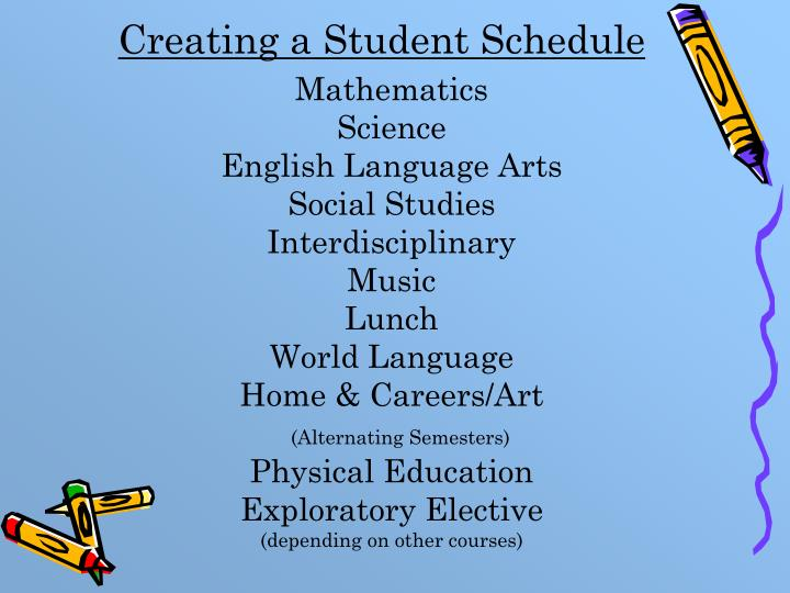 Creating a Student Schedule