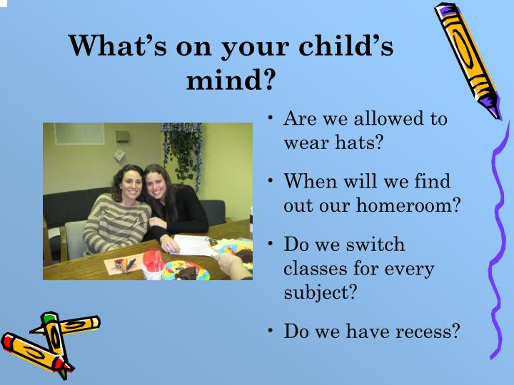 What's on your child's mind?