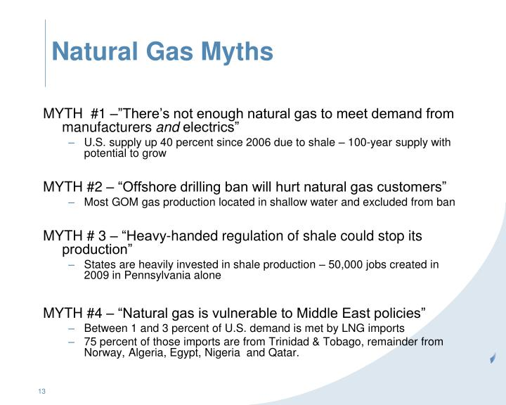 Natural Gas Myths