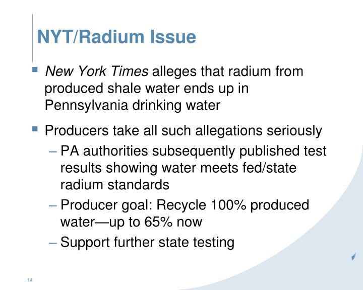 NYT/Radium Issue