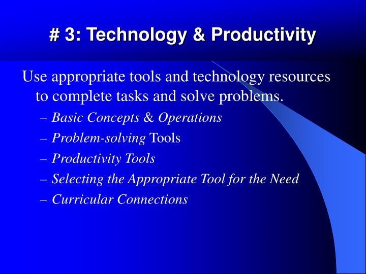 # 3: Technology & Productivity