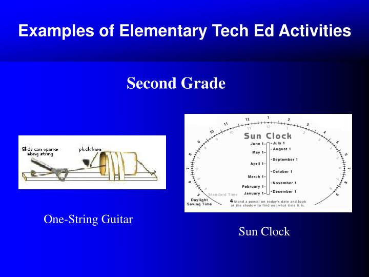 Examples of Elementary Tech Ed Activities
