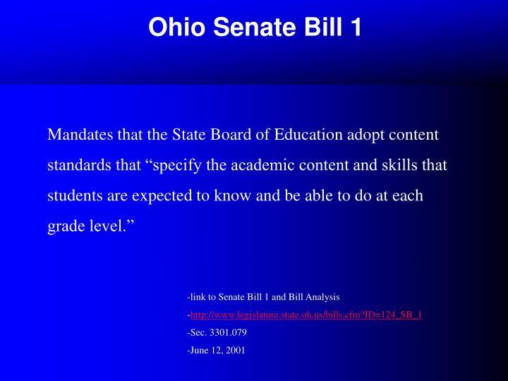 Ohio Senate Bill 1