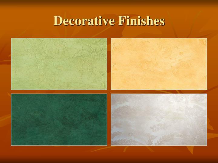 Decorative Finishes
