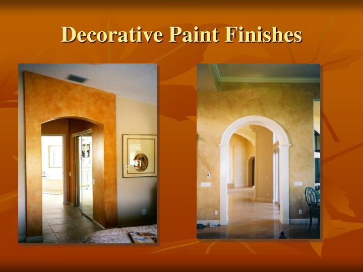Decorative Paint Finishes