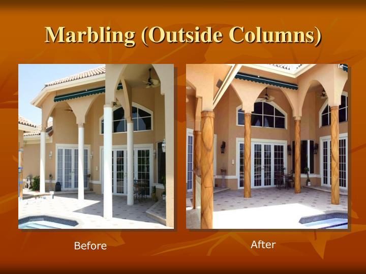 Marbling (Outside Columns)
