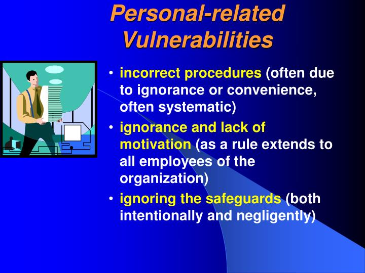 Personal-related Vulnerabilities
