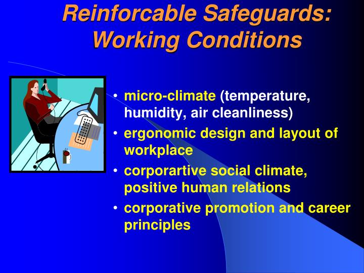 Reinforcable Safeguards: Working Conditions