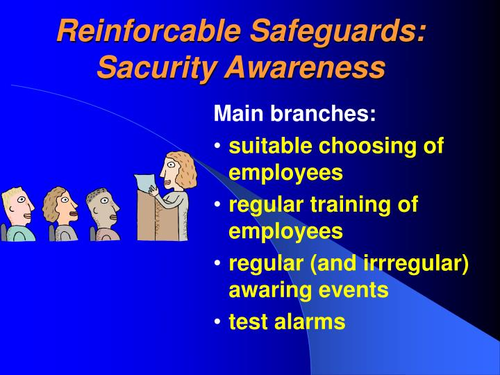 Reinforcable Safeguards: Sacurity Awareness