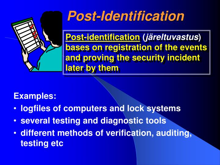 Post-Identification