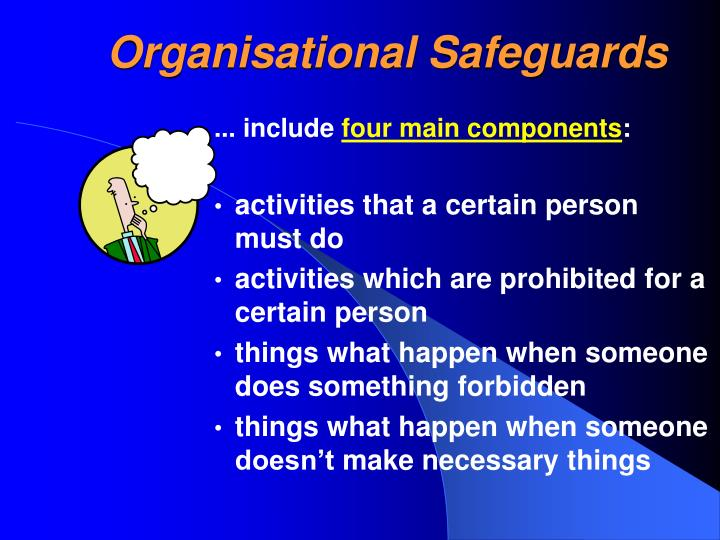 Organisational Safeguards