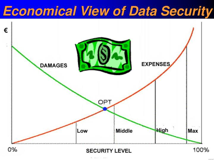 Economical View of Data Security