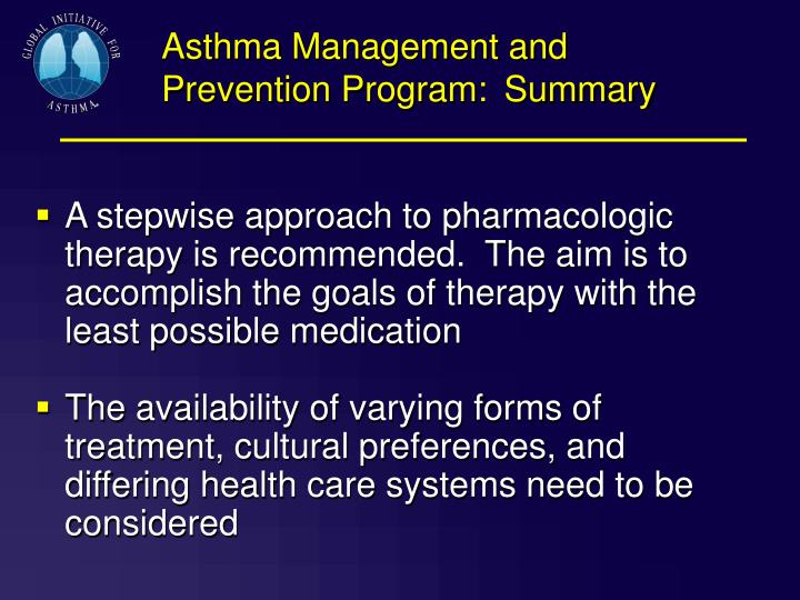 Asthma Management and Prevention Program: