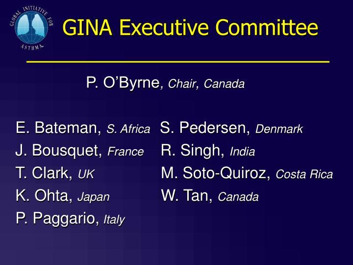 GINA Executive Committee