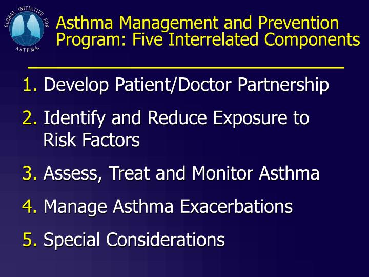 Asthma Management and Prevention Program: Five Interrelated Components