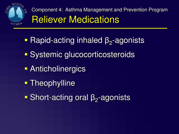 Component 4:  Asthma Management and Prevention Program